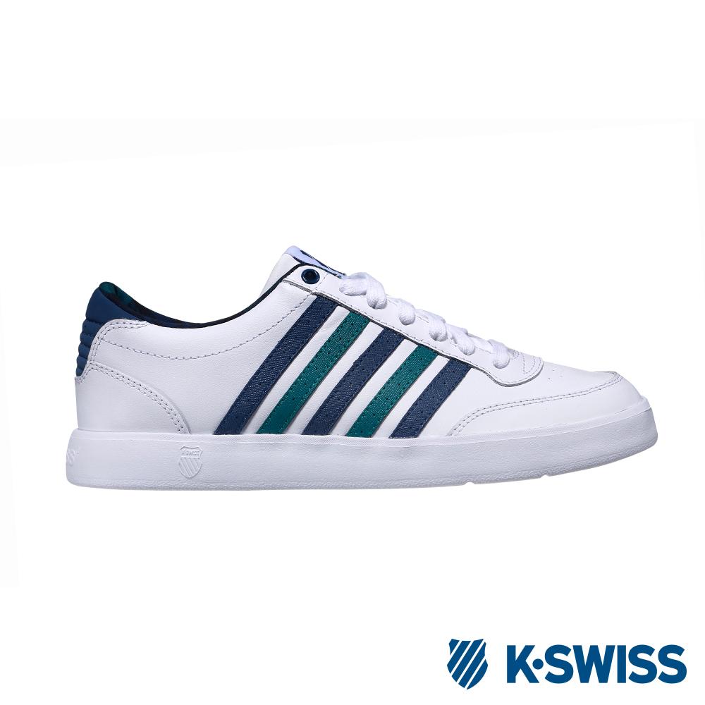 K-SWISS Court Lite CMF休閒運動鞋-男-白/藍/綠