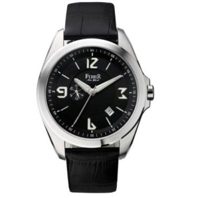 FIBER 軍用風格自動上鍊機械腕錶(黑/44mm)