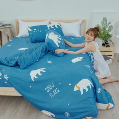 BUHO 乾爽專利機能單人床包+雙人薄被套三件組(溫室光所)