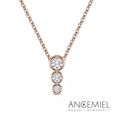 Angemiel 安婕米 Forturna 鑽石項鍊 優雅 0.16克拉 玫瑰金