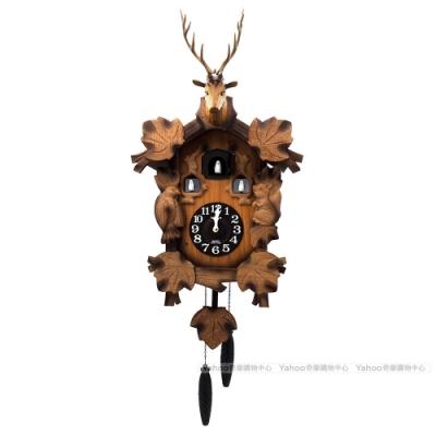 RHYTHM日本麗聲 森林謳歌鹿首木屋布穀鳥咕咕鐘/77cm