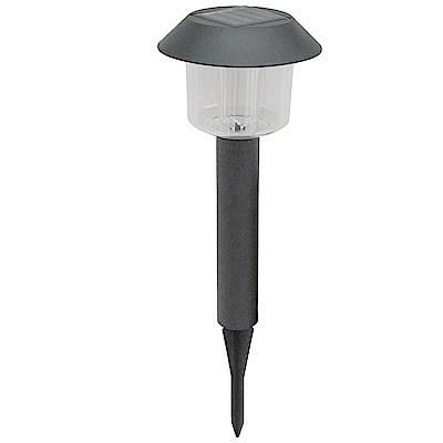 月陽黑帽太陽能充電式自動光控LED庭園燈草坪燈插地燈超值2入(50042)