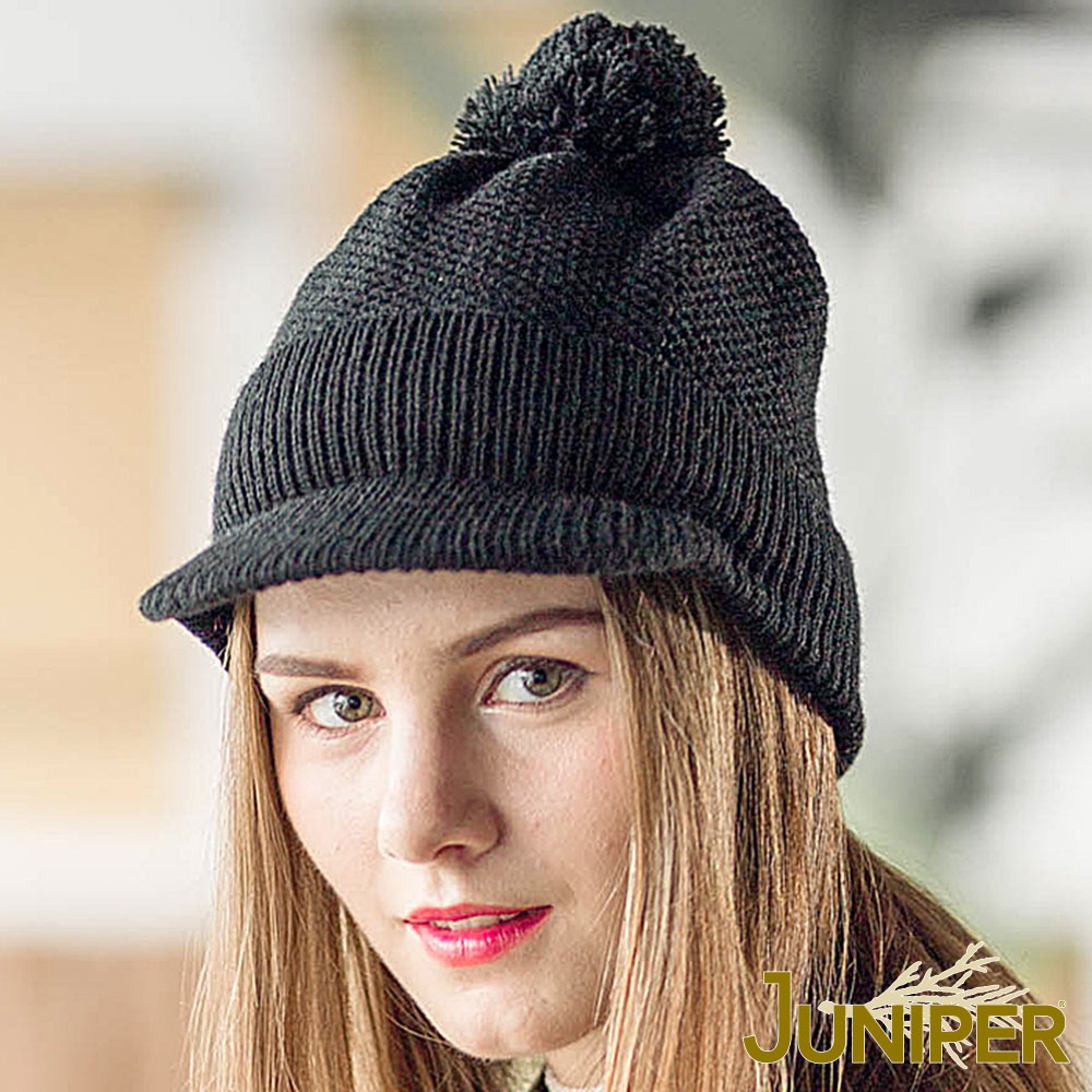 JUNIPER 女款防寒針織翻邊運動保暖毛線冬帽
