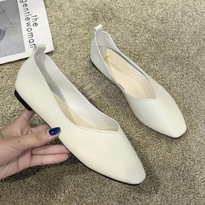 KEITH-WILL時尚鞋館 歡樂單品簡約時尚平底鞋-米