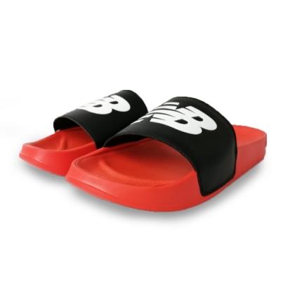 New Balance 涼拖鞋 基本款 輕量 透氣 休閒 男女鞋 黑 紅 SMF200FBD