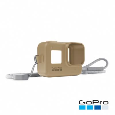GoPro-HERO8 Black專用矽膠護套+繫繩-飛沙棕AJSST-006