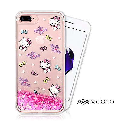 Hello Kitty iPhone 7/8 plus 亮片流沙手機軟殼 - 繽...