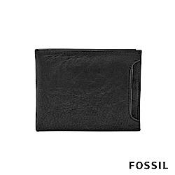 FOSSIL INGRAM 皮夾 附名片夾-黑色
