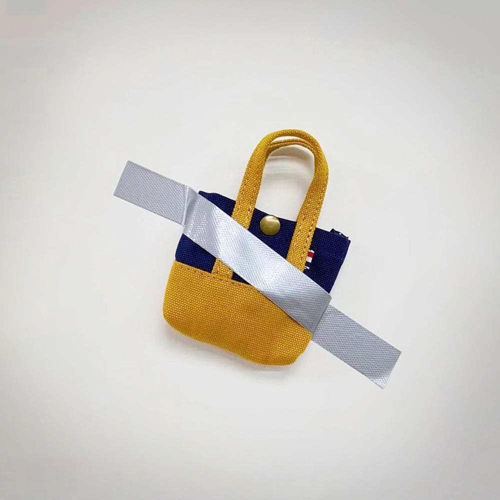 Kiiwi O! 經典造型迷你托特收納包 APRIL 黃/藍