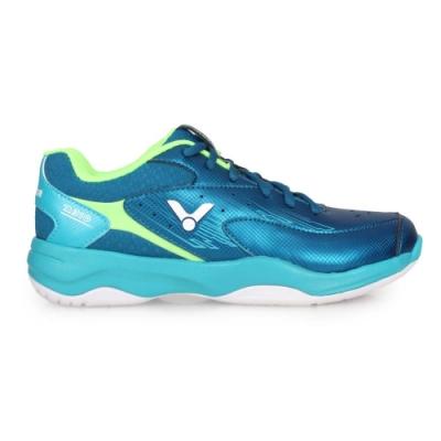 VICTOR 男專業羽球鞋-3E-訓練 羽毛球 寬楦 透氣 勝利 U型楦 A310-FU 靛青碧藍綠