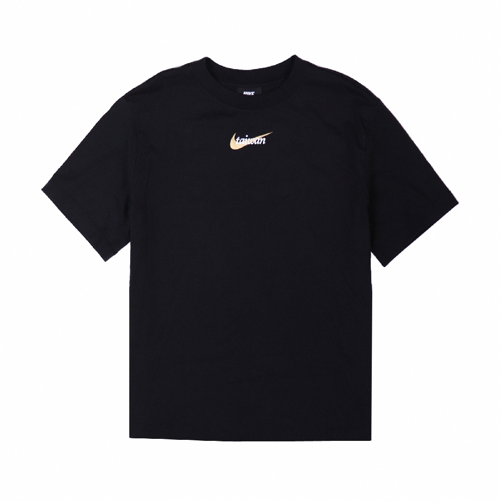 Nike T恤 NSW Taiwan SS Tee 女款 運動休閒 台灣 圓領 棉質 穿搭 基本款 黑 金 DM3557-010