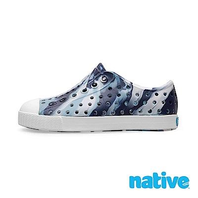 native 大童鞋 JEFFERSON 小奶油頭鞋-富士藍