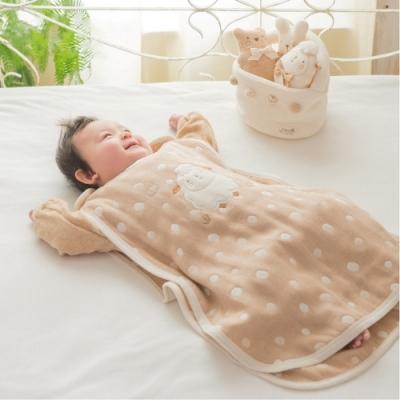 【Amorosa Mamma】有機棉嬰兒五重紗睡袋防踢被-小綿羊