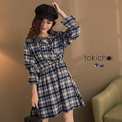 東京著衣 青春洋溢兩種穿法露肩洋裝-S.M(共二色)