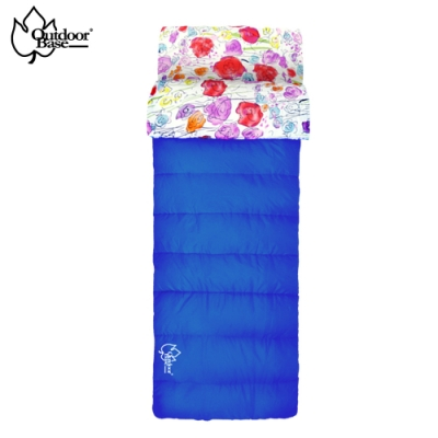 【OutdoorBase】草原印花保暖睡袋-雙拼睡袋-24462