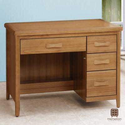 Hampton列蒂西雅柚木3.5尺書桌-106x66.5x81.3cm