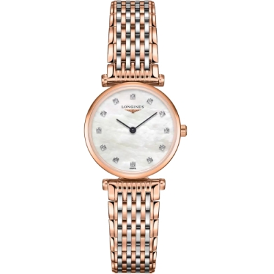 LONGINES浪琴 嘉嵐系列超薄真鑽石英腕錶 L42091977-24mm