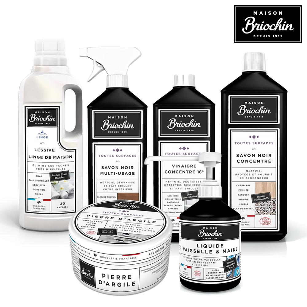 Maison Briochin 黑牌碧歐馨 超值居家清潔六件組
