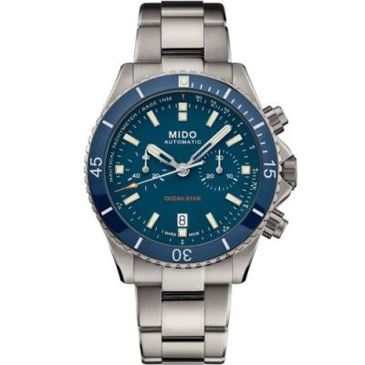 MIDO美度 Ocean Star海洋之星鈦金屬計時潛水機械錶 M0266274404100-44mm