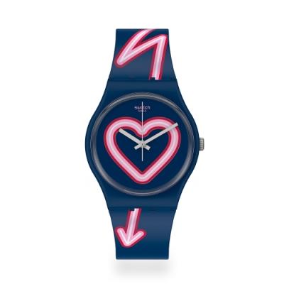 Swatch 原創系列手錶 FLASH OF LOVE 愛超閃-34mm