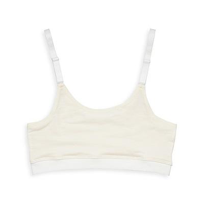 anny pepe 成長型內衣 純棉可調肩帶型-米
