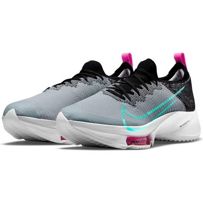 NIKE 耐吉 慢跑鞋 運動鞋 氣墊 緩震 男鞋 黑灰 CI9923-006  AIR ZOOM TEMPO NEXT% FK