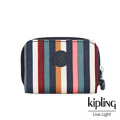 Kipling繽紛仲夏條紋短夾-TOPS