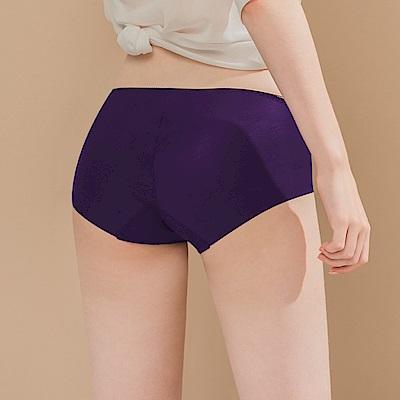 無痕透氣超健康竹炭包臀中腰M-XL內褲 魔幻深紫 可蘭霓Clany