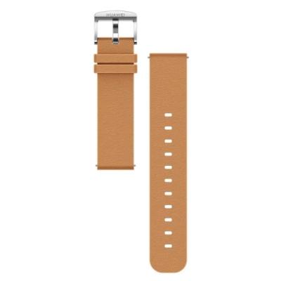 HUAWEI華為 原廠 Watch GT / GT2 真皮皮革錶帶 - 卡其色