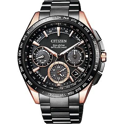 CITIZEN 星辰 GPS 光動能衛星對時超級鈦金屬腕錶-黑/43mm