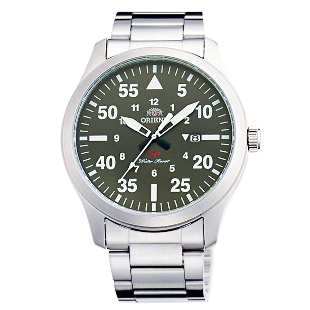 ORIENT東方SP飛行運動時尚手錶FUNG2001F-綠X銀/42mm @ Y!購物