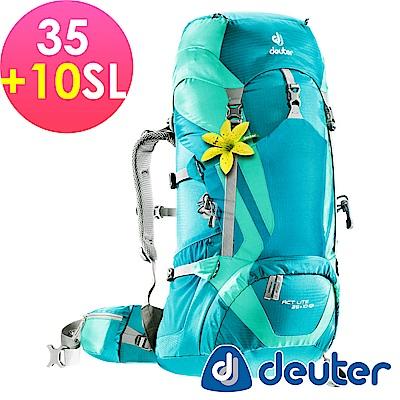 【ATUNAS 歐都納】德國DEUTER輕量化拔熱背包R35+10SL-3340015藍/綠