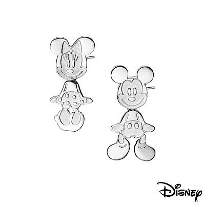 Disney迪士尼系列銀飾 純銀耳環-搖擺米奇款