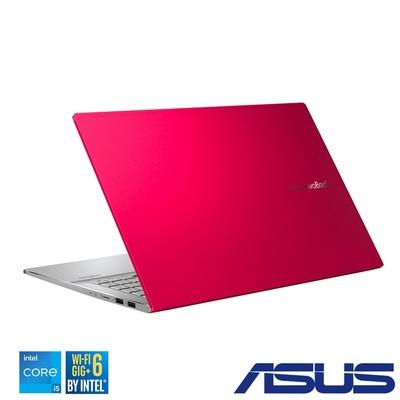 (附M365 15個月) ASUS S433EQ 14吋筆電(i5-1135G7/MX350/16G/512GB+32GB Optane/VivoBook S14/魔力紅)