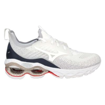 MIZUNO WAVE CREATION 22 WAVEKNIT 女慢跑鞋 J1GD213301 白灰藍