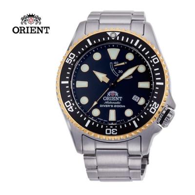 ORIENT東方錶 WATER RESISTANT系列 200m潛水錶 鋼帶款 黑金 -43.4mm