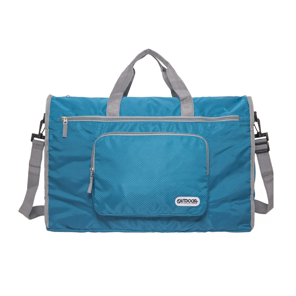 【OUTDOOR】旅遊配件-摺疊旅行袋(大)-藍 ODS19A01BL