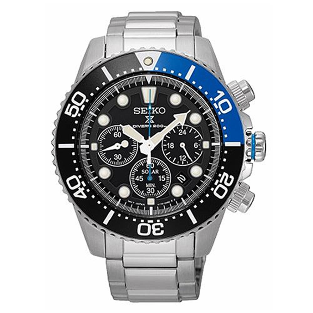 SEIKO 精工PROSPEX 愛海洋太陽能潛水腕錶-黑SSC017P1