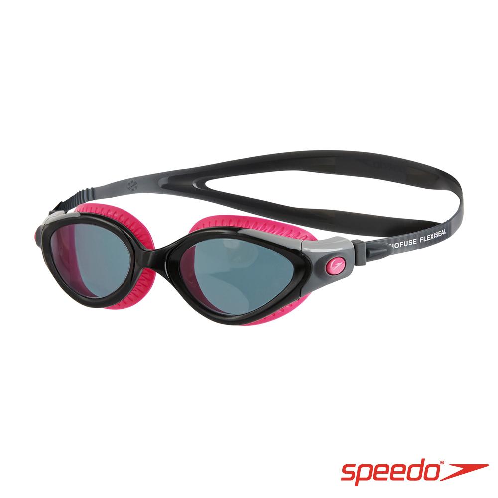 SPEEDO 成人 運動泳鏡 Futura Biofuse 紫灰