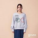 gozo 立體植絨造型品牌logo上衣(二色)