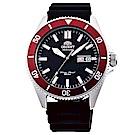 ORIENT東方200m潛水機械錶手錶RA-AA0011B-黑X紅框/44mm