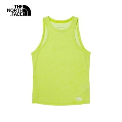 The North Face北面女款亮綠色吸濕排汗背心|538LS2L
