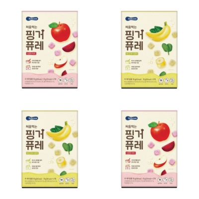 韓國 【BEBECOOK】 嬰幼兒初食綿綿果泥4入組(蘋果甜菜、香蕉菠菜)