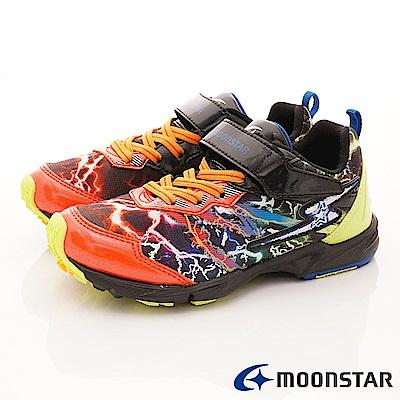 日本月星頂級競速童鞋 閃電蓄光系列 EI601紅(中大童段)
