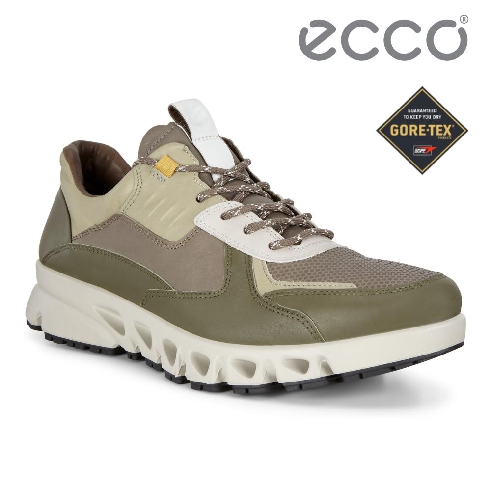 ECCO MULTI-VENT M 全方位城市戶外防水運動休閒鞋 男鞋橄欖綠