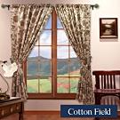棉花田 法爾 印花仿麂皮穿掛兩用遮光窗簾(270x230cm)