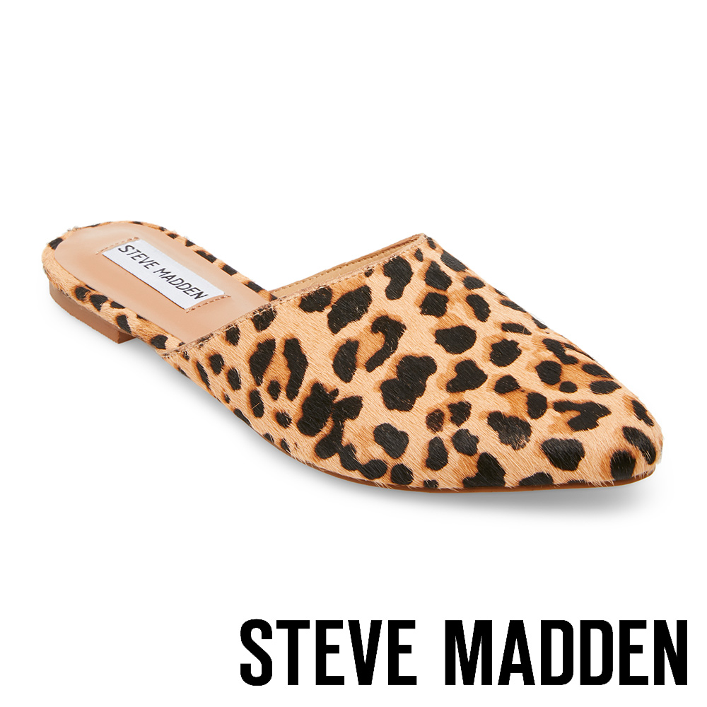 STEVE MADDEN ANTIONETTE 簡約時尚尖頭後跟拖-豹紋