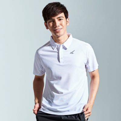 【AIRWALK】簡約設計吸排POLO衫-白色