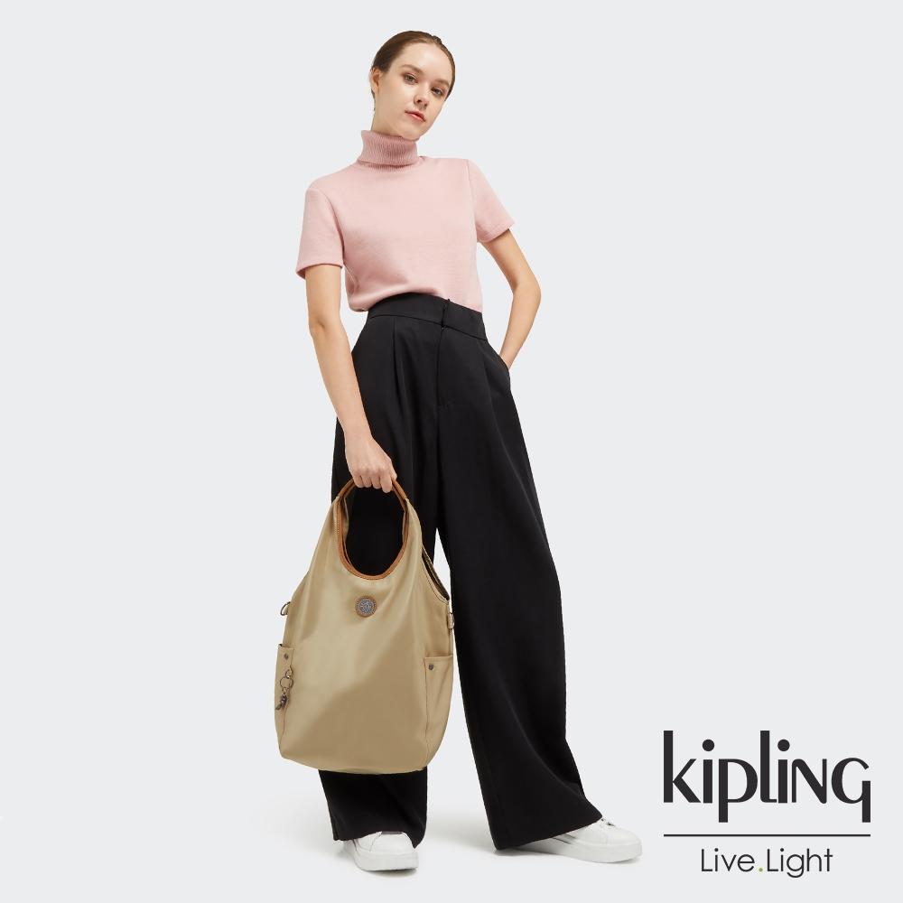 Kipling 淺焙烏龍拿鐵色肩背側背包-URBANA