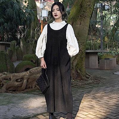 設計所在Style-新款日系文藝毛線針織休閒背帶裙